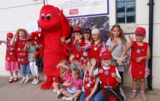 lobster with children